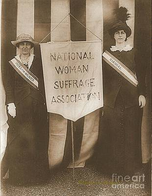 Suffragists Mrs. Mccormick And Mrs. Parker Print by Padre Art