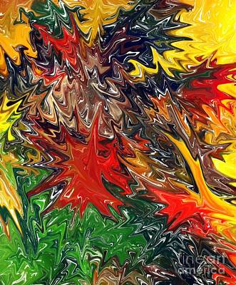 Colorful Abstract Digital Art - Summer Autumn by Chris Butler