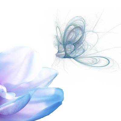 Spririt Digital Art - Summer Blue by Sharon Lisa Clarke