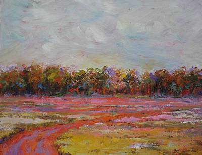 Impressionistic Landscape Painting - Summer Heat by Bonnie Goedecke