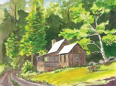 Side Porch Painting - Summer Home by Rita Lackey
