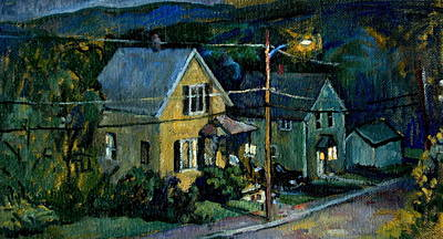 Abstract Realist Landscape Painting - Summer Nocturne by Thor Wickstrom