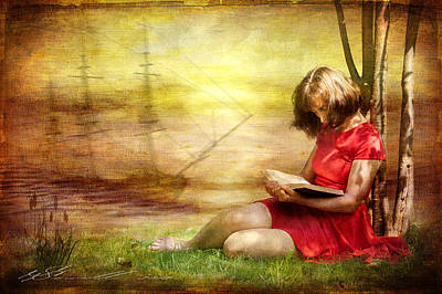 Concept Mixed Media - Summer Reading by Svetlana Sewell