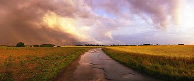 Summer Storm Raf Lavenham Print by Jan Faul