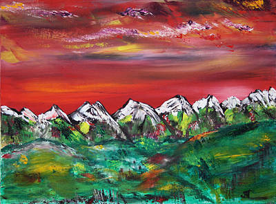 Prairie Painting - Summer Sunsets by James Bryron Love