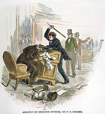 Sumner And Brooks, 1856 Print by Granger