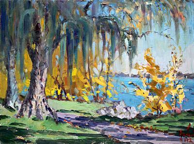 Autumn Landscape Painting - Sun Again by Ylli Haruni