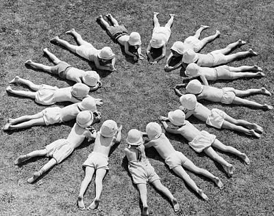 Sun Circle Print by Fox Photos