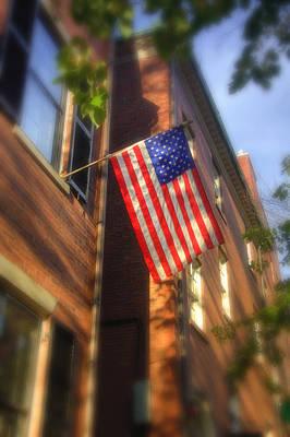 New England Fall Photograph - Sun Kissed Flag by Joann Vitali