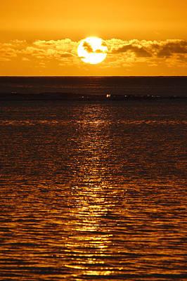 Sun Over Horizon Print by Steeve Dubois
