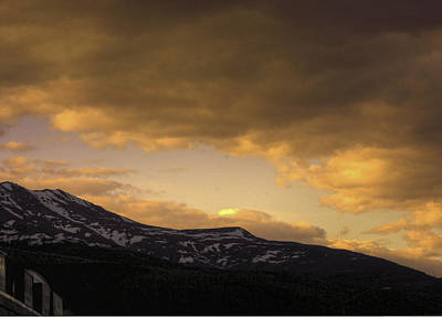 Sun Set Eagle River Print by Grover Woessner