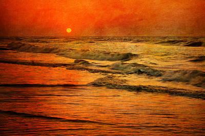 Beach Photograph - Sun Set by Emily Stauring