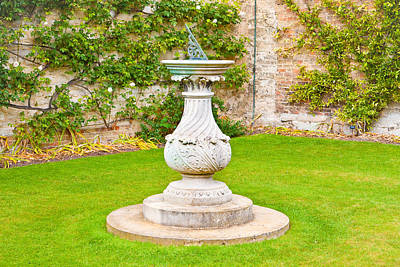 Sundial Photograph - Sundial by Tom Gowanlock