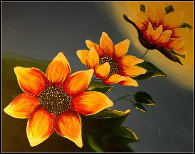 Flower Painting - Sunflower by Ankita Ghosh