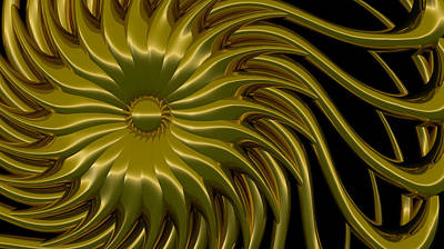 Floral Digital Art Digital Art Digital Art - Sunflower by Richard Rizzo