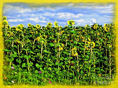 Sunflowers In France Print by Joan  Minchak