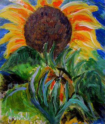 Painting - Sunflowers  by Jon Baldwin  Art