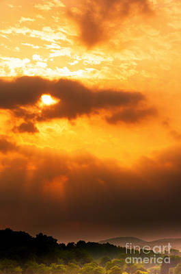 Sun Rays Digital Art - Sunlight Through Clouds by Thomas R Fletcher