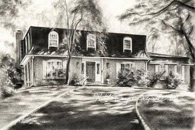 Charcoal Landscape Drawings Drawing - Sunny Day by Natasha Denger