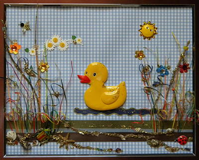 Gracie Mixed Media - Sunny Duck by Gracies Creations