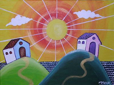 Sunny Print by Monica Moser