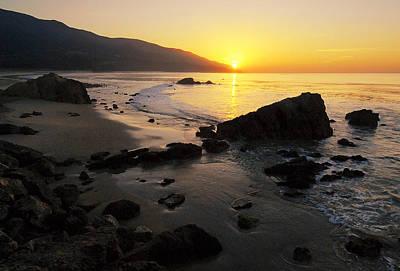 Sunrise At Leo Print by Ron Regalado