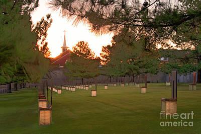 Sunrise At The Alfred P Murrah Memorial II Print by Tamyra Ayles