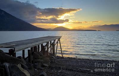 Sunrise Dock Print by Idaho Scenic Images Linda Lantzy