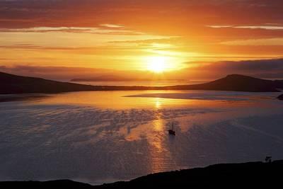 Sunrise, Falkland Islands Print by Charlotte Main