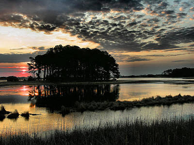 Sunrise On Assateague Print by Steven Ainsworth