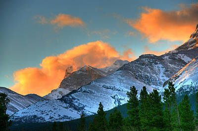 Sunrise Over Crowsnest Pass, Border Print by Robert Postma