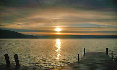 Sunrise Over Keuka Print by Steven Ainsworth