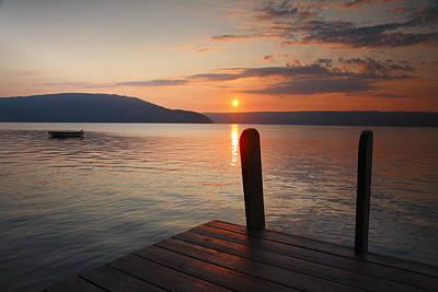 Sunrise Over Keuka Vi Print by Steven Ainsworth