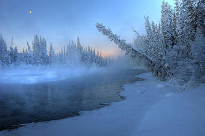 Sunrise Over Morley River, Yukon Print by Robert Postma