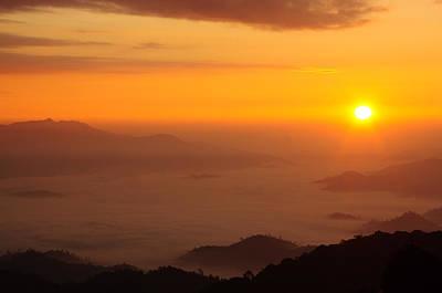 Sunrise Over The Mist Mountain Original by Preecha Sirima