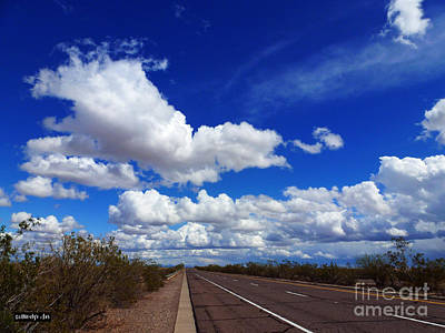 Asphalt Digital Art - Sunrise Parkway by Methune Hively