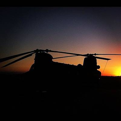 Helicopter Photograph - #sunset #airplane #helicopter by Artistic Shutter