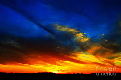 Sunset At 70mph Print by Jamie Rabold
