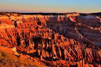 Sunset At Cedar Breaks Print by Mark Bowmer
