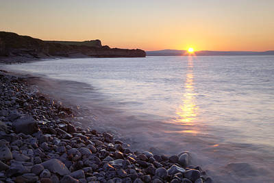 Y120907 Photograph - Sunset At Kilve Beach, Somerset by Nick Cable