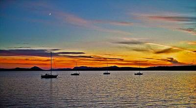 Sunset At Lake Memphremagog - Qc Print by Juergen Weiss