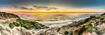 Panoramic Of San Diego Photograph - Sunset Cliffs Three by Josh Whalen