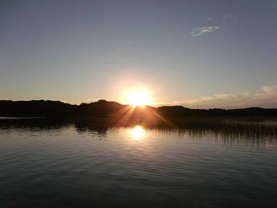 Sunset Glass At The Lake Print by Brian  Maloney