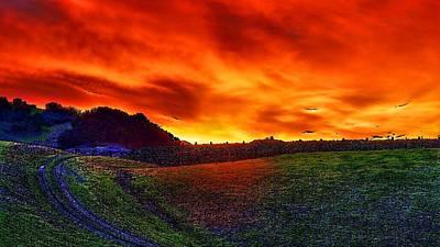 Sunset Print by Hemendra Pratap