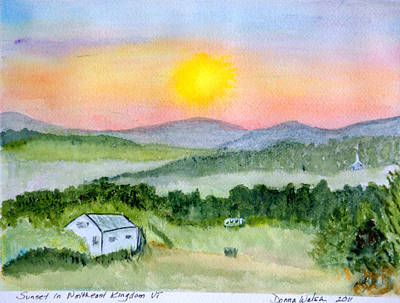 Plein Air Painting - Sunset In North East Kingdom by Donna Walsh