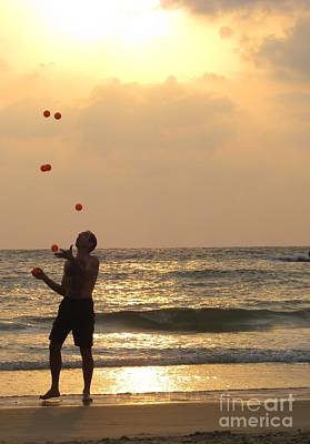 Sunset Juggling Print by Stav Stavit Zagron