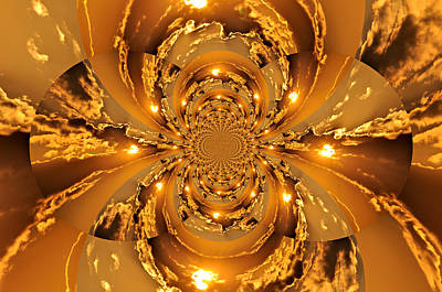 Sunset Kaleidoscope 4 Print by Marty Koch