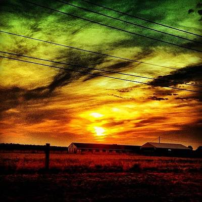Rural Scenes Photograph - Sunset by Katie Williams