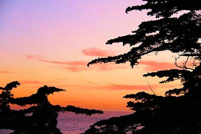 Sunset Monteray Bay Print by Gerry Fortuna
