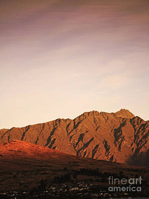 Mountains Photograph - Sunset Mountain 2 by Pixel Chimp